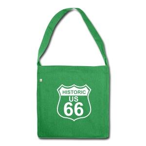 Schultertasche Historic US 66 - Schultertasche aus Recycling-Material
