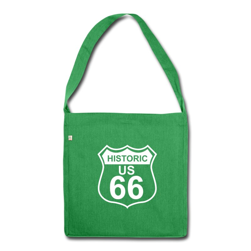 Schultertasche Historic US 66 - Schultertasche aus Recycling-Material