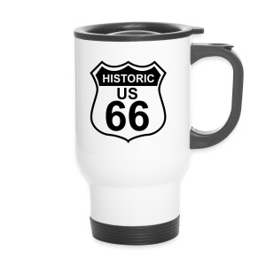 Thermobecher Historic US 66 mit Trinkverschluss  - Thermobecher