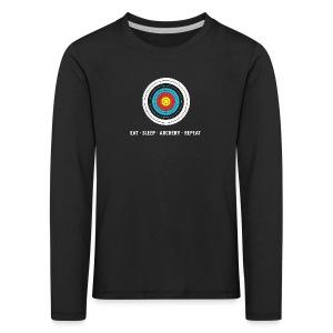Kinder Premium Langarmshirt - EAT - SLEEP - ARCHERY - REPEAT - Kinder Premium Langarmshirt