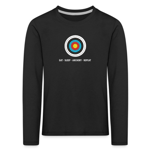 Kinder Premium Langarmshirt - EAT - SLEEP - ARCHERY - REPEAT - Kinder Premium Langarmshirt