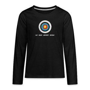Teenager Premium Langarmshirt - EAT - SLEEP - ARCHERY - REPEAT - Teenager Premium Langarmshirt
