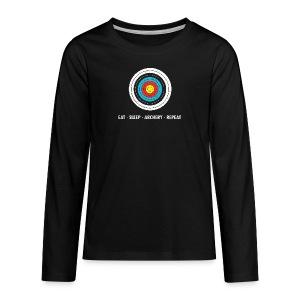 Teenager Premium Langarmshirt - EAT - SLEEP - ARCHERY - REPEAT - Teenager Premium Langarmshirt