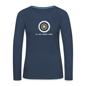 Frauen Premium Langarmshirt - EAT - SLEEP - ARCHERY - REPEAT - Frauen Premium Langarmshirt