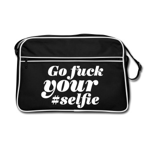 Go Fuck Your Selfie - Retro Tasche