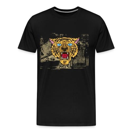 Oldschool Tiger - Herre premium T-shirt