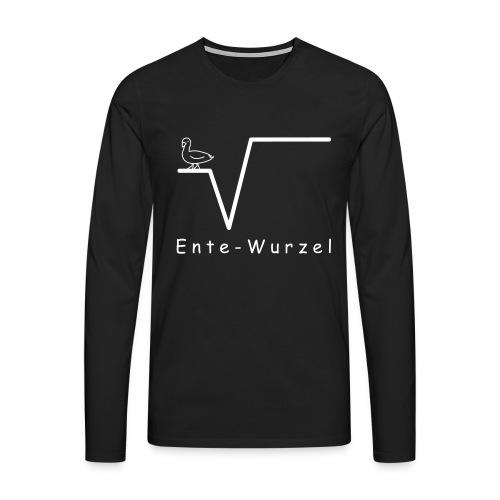 Ente Wurzel Männer Nerd Shirt - Männer Premium Langarmshirt