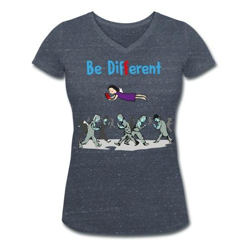 Be Different - read Books - Frauen Bio-T-Shirt mit V-Ausschnitt von Stanley & Stella