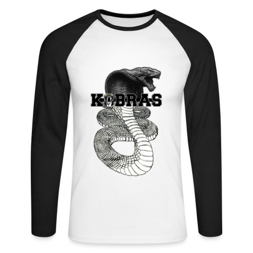 Kobras Longsleeve - Männer Baseballshirt langarm