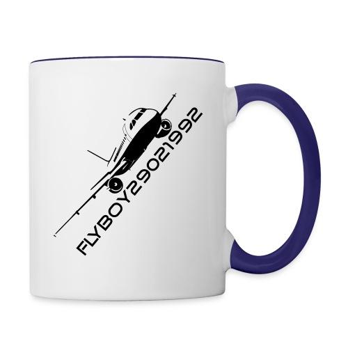 Flyboy dual colour Mug Black Logo - Contrasting Mug