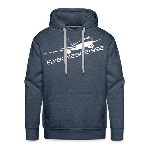 Flyboy Hoodie Logo White - Men's Premium Hoodie