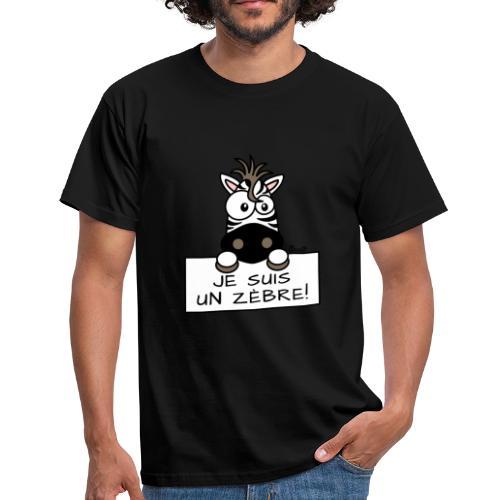 Tee shirt Homme, Je suis un Zèbre - T-shirt Homme
