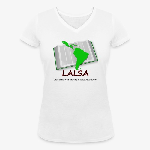 LALSA Womens V-neck T-Shirt w/Dark lettering - Women's Organic V-Neck T-Shirt by Stanley & Stella