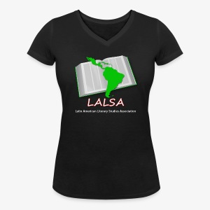 LALSA Womens V-neck T-Shirt w/Light lettering - Women's Organic V-Neck T-Shirt by Stanley & Stella