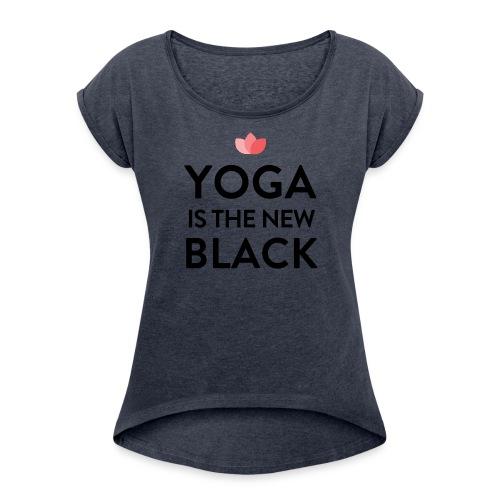 New Yoga Tee water - Frauen T-Shirt mit gerollten Ärmeln
