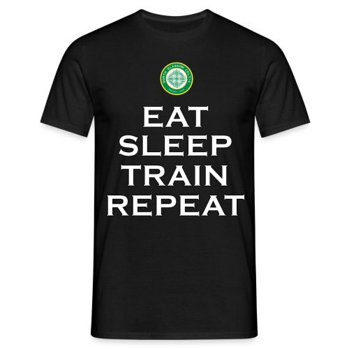 #EatSleepTrainRepeat Tee - Men's T-Shirt