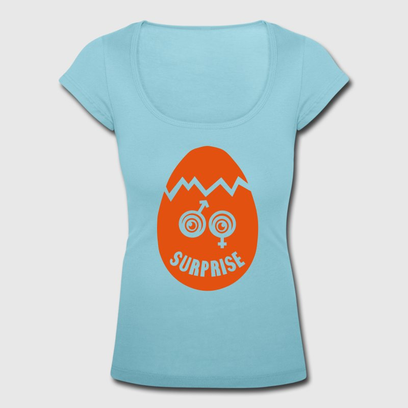 grossesse oeuf surprise fille garcon boy Tee shirts - T-shirt col rond U Femme