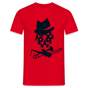 Musically Skully - Männer T-Shirt