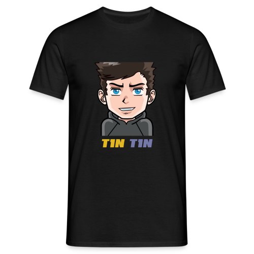 T1NT1N Colour Text (Black) - Men's T-Shirt