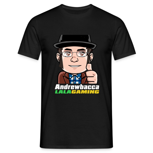 LALA Gaming Colour Text (Black) - Men's T-Shirt