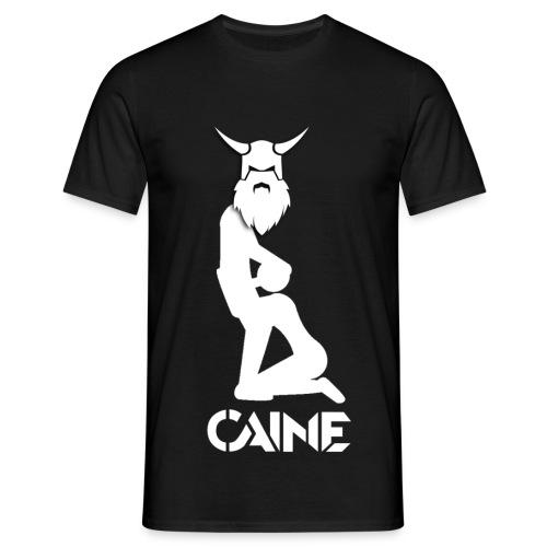 Caine Logo White - Men's T-Shirt
