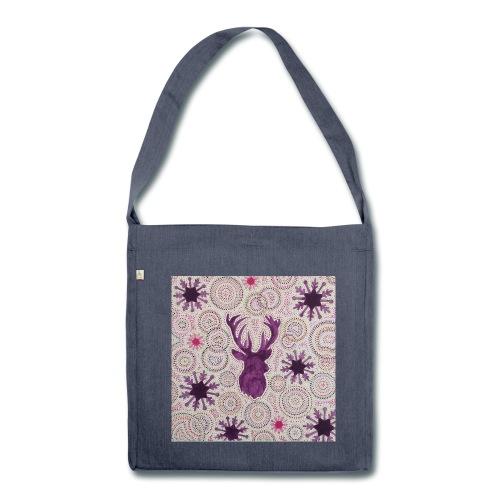 Tote bag Purple Reindeer - Sac bandoulière 100 % recyclé