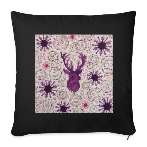 Cushion Purple Reindeer - Housse de coussin décorative 44x 44cm