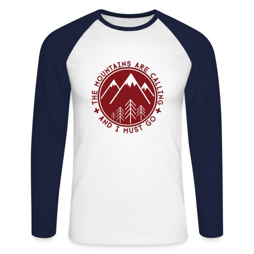 The Mountains are Calling Long sleeve shirts - Men's Long Sleeve Baseball T-Shirt