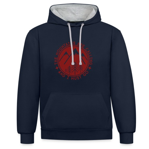 The Mountains are Calling Hoodies & Sweatshirts - Contrast Colour Hoodie