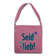 Schultertasche aus Recyclingmaterial