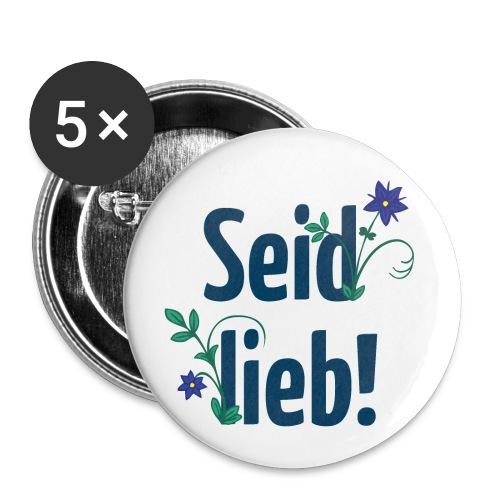 Buttons »Seid lieb!«, 5er-Pack