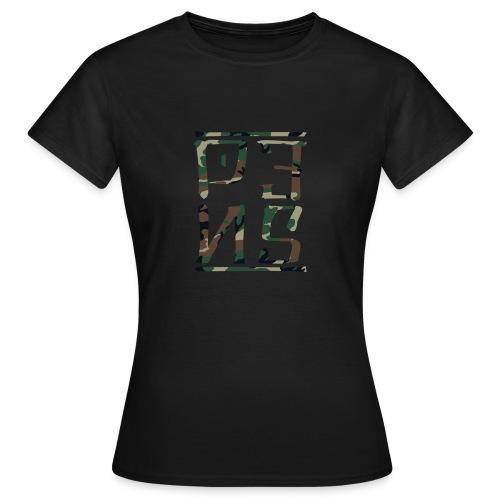 CAMO LOGO SHIRT WOMEN - T-shirt dam