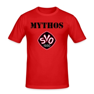 Fanshirt Mythos in rot - Männer Slim Fit T-Shirt