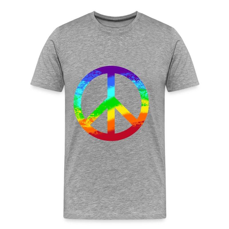 peacezeichen regenbogen rainbow friedenstaube t shirt. Black Bedroom Furniture Sets. Home Design Ideas