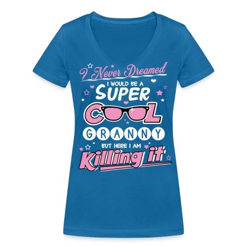 Super Cool Granny V-Neck - Women's Organic V-Neck T-Shirt by Stanley & Stella