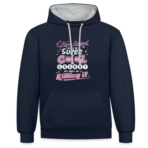 Super Cool Granny Two-Tone Hoodie - Contrast Colour Hoodie