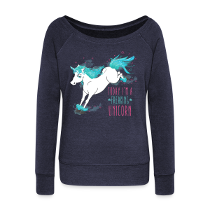 Sweat Freaking Unicorn - Pull Femme col bateau de Bella