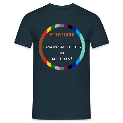 Trainspotter in action Mens T-Shirt - Men's T-Shirt