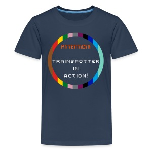 Trainspotter in action Teenagers T-Shirt - Teenage Premium T-Shirt