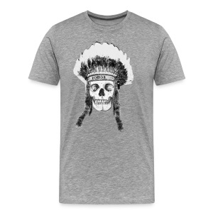 Headdress and skull - Men's Premium T-Shirt