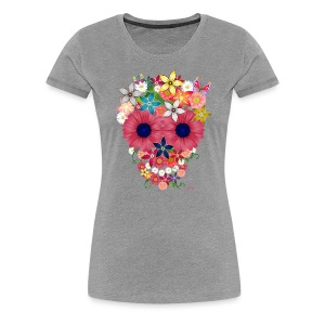Skull flowers - Women's Premium T-Shirt