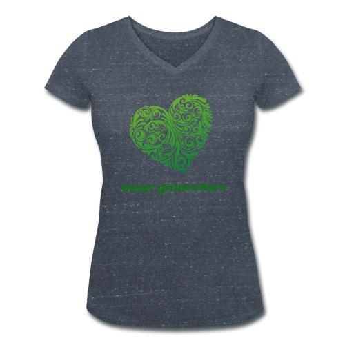 Unser grünes Herz V shirt Frauen - Frauen Bio-T-Shirt mit V-Ausschnitt von Stanley & Stella