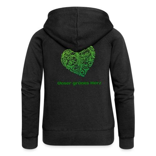 Unser grünes Herz Kaputzenjacke Frauen - Frauen Premium Kapuzenjacke