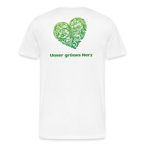 Unser grünes Herz T-Shirt Männer - Männer Premium T-Shirt