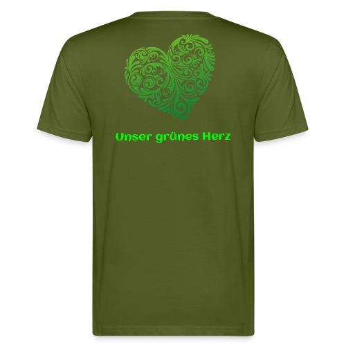 Unser grünes Herz  T-Shirt Männer - Männer Bio-T-Shirt