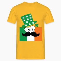 Irish mustache man st.Patrick's day Men's T-Shirt