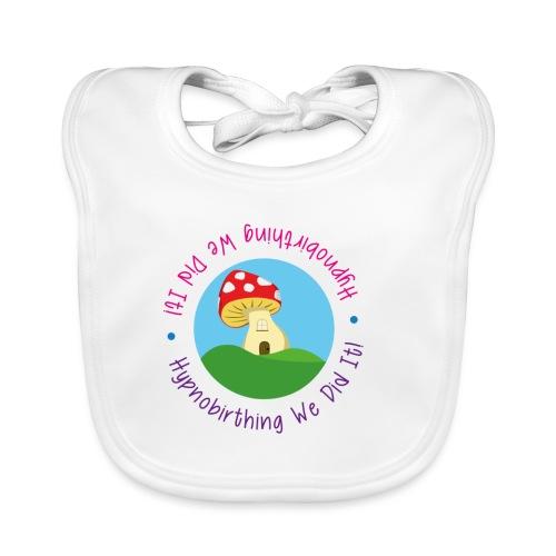Hypnobirthing we did it toadstool bib - Baby Organic Bib