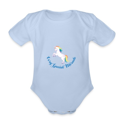 very special miracle unicorn - Organic Short-sleeved Baby Bodysuit