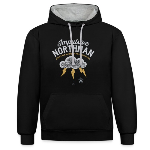 Impulsive Northman - Kontrast-hættetrøje