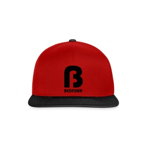 Snap Back Hat Red and Black with Black Bedfunk Logo  - Snapback Cap